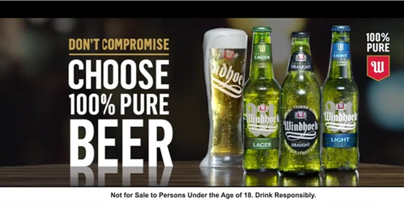 Windhoek lager dont compromise choose 100 pure beer | OYE-Boutique
